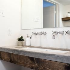Cement Countertop in Master Bathroom