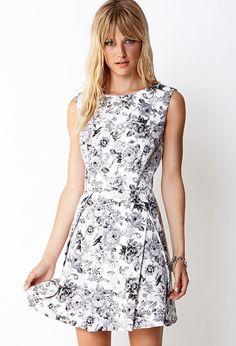 FOREVER 21 Garden Chic A-Line Dress