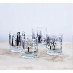 This set of Tree glasses is most perfect gift for under £40.00
