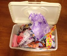 Wipe Container Toddler Activity