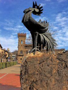 The legend of the black rooster of Chianti Classico Logo.  Greve in Chianti. #wine #chianti #tuscany