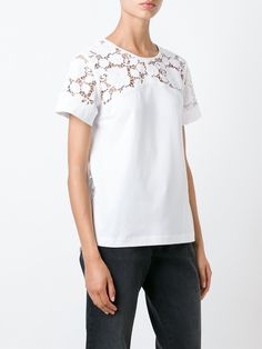 Nº21 футболка 'Lace Embroidered'