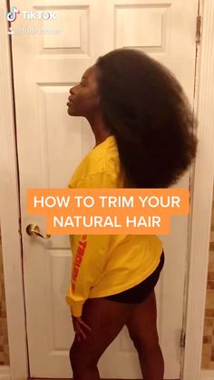 HOW TO: TRIM YOUR NATURAL HAIR