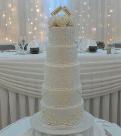 21 best FIVE TIER WEDDING CAKES images on Pinterest | 5 tier wedding ...