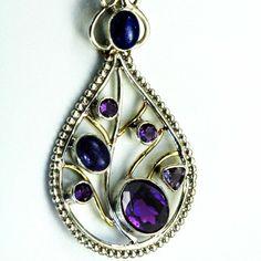 Handmade Amethyst Teardrop Necklace