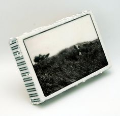 Items similar to Long Beach Encaustic Photograph - The Quiet Grass 4 x 6 x 1 on Etsy