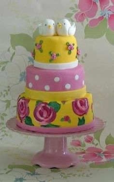 Celebrating spring's arrival with a cake