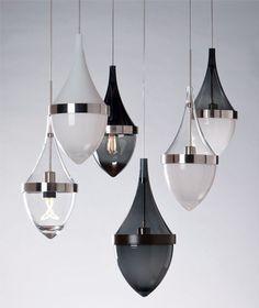 Lampada a sospensione / moderna / tela - KIEV - TECH LIGHTING