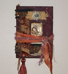 SALE Life Beckons II   Altered Book by RitaMaskeyMixedMedia, $65.00 collage embellished