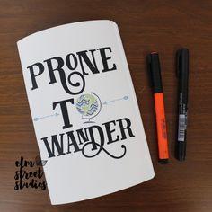 Prone To Wander Canvas Notebook | Elm Street Studios