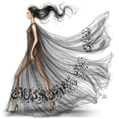 Sheer fashion illustration
