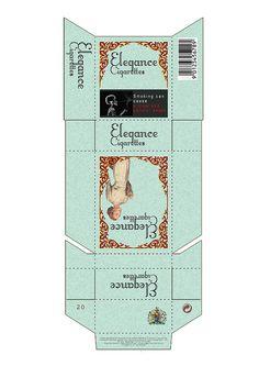 Cigarette Box Design Template