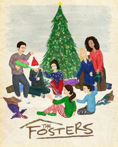 Amazing Christmas fan art of our Adams Foster family from http://thattallnerdybean.tumblr.com/! Submit your fan art here: thefosters-onabcfamily.tumblr.com/submit