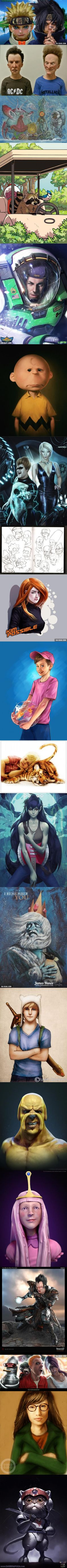 40 Realistic Versions of Cartoon Characters (Part 2)