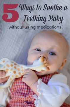 Is your baby teething? Here are 5 ways to soothe your little one, without using medication.