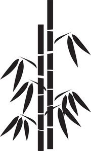 bamboo Silhouette Clip Art | Bamboo Clipart Image - Silhouette Of A Stand Of Bamboo