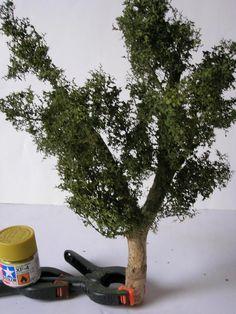 Les arbres dans un diorama