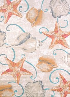 """United Weavers of America Regional Concepts Stars and Shells Rug, 5' 3"""" by 7' 2"""", Tropical.  Perfect for your coastal or beach home."""