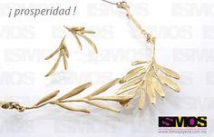 ISMOS Joyería: aretes y collar de bronce // ISMOS Jewellery: bronze necklace and earrings