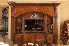Photo Gallery - TV Cabinets - 714-573-1700 - Pearlworksinc.com Dressing Table Wooden, Exterior Design, Interior And Exterior, Flexible Molding, Decorative Mouldings, Tv Cabinets, Baseboards, Photo Galleries, Hardwood