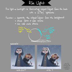 Tuesday tips – rim light. Secondary light source to illuminate the subject or object to add more drama. Dun dun dunnnnn. #Griz #grizandnorm #tuesdaytips #rimlight #arttip #arttutorial #paintingtip #paintingtutorial