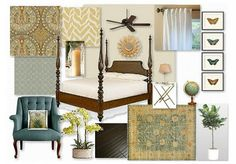 The West Indies/British Colonial is my #1 favorite decorating style. This room board is fabulous!
