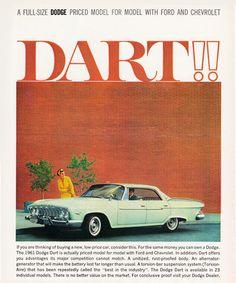 Dodge Dart Hardtop 1961 In 23 Models - Mad Men Art: The 1891-1970 Vintage Advertisement Art Collection