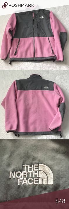 🆕 North Face Denali Fleece Full Zip Jacket North Face Denali fleece pink and grey full zip jacket. Super cute and in great preloved condition. Size S. Warm and cozy. Zipper pockets. Mock neck. ❌NO TRADES❌NO LOWBALLING❌ The North Face Jackets & Coats