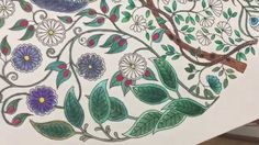 One way to use watercolor pencils with adult coloring books