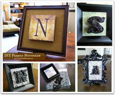 DIY Framed Monograms (easy to make, great gift idea)