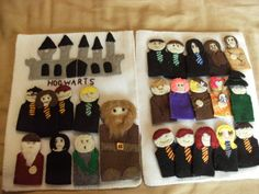 I made the book pages out of heavy pellon and sewed felt onto it for the pictures. Baby Harry Potter, Harry Potter Baby Clothes, Harry Potter Nursery, Theme Harry Potter, Finger Puppet Patterns, Finger Puppets, Crafts To Do, Felt Crafts, Quiet Book Patterns