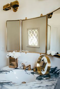 Aimee song of song of style new house powder room
