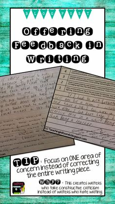 A blog post focusing on how to offer feedback to students when reading/correcting their writing.  Just a few practical tips so that you don't spend your entire weekend correcting paragraphs.