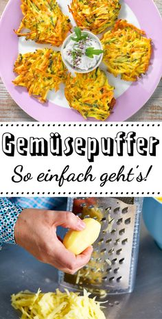 Gemüsepuffer – das einfache Rezept Vegetable pancakes are the perfect one lunch for every day, but of course also taste in the evening! Healthy Crêpes - Fruit-Based Desserts Korean Ground Beef and Rice Bowls Vegetable Recipes, Vegetarian Recipes, Healthy Recipes, Vegetarian Lifestyle, Easy Dinner Recipes, Easy Meals, Vegetable Pancakes, Healthy Snacks, Veggies
