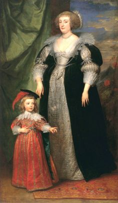 1634 Anthony van Dyck - Marie Claire de Croy, Duchess d'Havre and Child