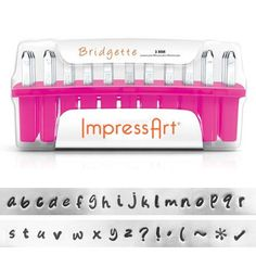 Metal Letter Stamps for making stamped jewelry and crafts. Over 45 ImpressArt Metal Alphabet & Number Stamp Sets with 15 unique typefaces. Economy letter sets and individual metal letter stamps available. Metal Stamping Kit, Metal Stamping Supplies, Stamping Tools, Jewelry Stamping, Stamped Jewelry, Alphabet Stamps, Uppercase Alphabet, Metal Projects, Metal Crafts