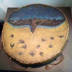 Plains Indian drum Plains Indians, Eagles, Drums, Native American, Sky, Swallows, Decor, Art, Heaven
