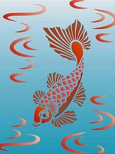 Little Koi Stencil 2 – Henny Donovan Motif – Tattoo Pattern Fish Stencil, Stencils, Fish Patterns, Stencil Patterns, Cigar Box Art, Drawn Fish, Fish Silhouette, Pyrography Patterns, Sea Life Art