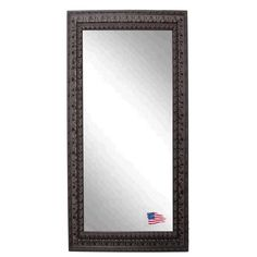 Display elaborate grandeur by decorating with this embellished floor mirror. The abundance of details and architectural elements of this 3-inch frame will spark conversation and interest in your living space.
