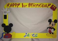 photo frame party prop Mickey  mouse by titaspartycreations, $35.00