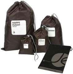 """DRAWSTRING bags Before packing cubes became popular, drawstring bags were the """"it"""" thing in packing."""