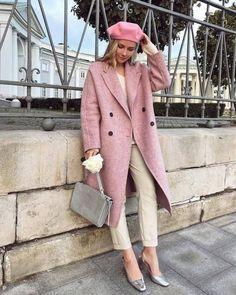 Ella Wool Coat in Blush Ella Wool Coat in Blush Winter Coat Outfits, Stylish Winter Outfits, Winter Fashion Outfits, Classy Outfits, Pretty Outfits, Chic Outfits, Autumn Winter Fashion, Fall Outfits, Stylish Winter Coats