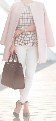 Zara Black And White Windowpane Blouse by Blasfemmes