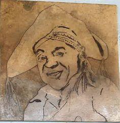 Pedra Sobre Pedra - Artesanato em Pedra Cariri: Retrato de Luiz Gonzaga, Rei do Baião
