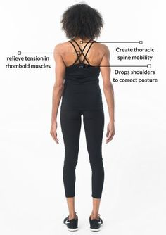 Why do you have pain between shoulder blades? The best way to relieve pain between shoulder blades is using the Plexus Wheel. What are those muscles called? Upper Back Exercises, Back Stretches For Pain, Relieve Back Pain, Back And Shoulder Workout, Back Fat Workout, Shoulder Blade Stretch, Thoracic Spine Mobility, Upper Back Pain, Psoas Muscle
