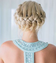 Coiffure mariage : une tresse couronne