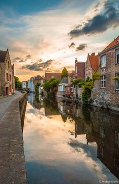 Reflections of Bruges, Belgium. I may not have mentioned this, but Bruges is my favorite European city. Places In Europe, Places To Travel, Places To See, Travel Around The World, Around The Worlds, Beautiful Places In The World, European Travel, Belle Photo, Malta