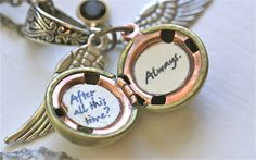 Harry Potter Golden Snitch Always Necklace by SimplyHarry on Etsy, $29.00