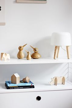 Love the wood and white! A Modern, Stylish Baby Boy's Nursery - Petit & Small with ArchitectMade Birds you can buy at www.fitzsu.com