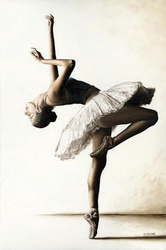 Reaching For Perfect Grace Painting by Richard Young ~ ballet